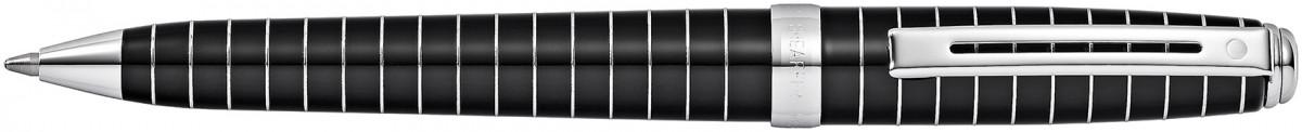 Sheaffer Prelude Ballpoint Pen - Black Lacquer Chrome Rings
