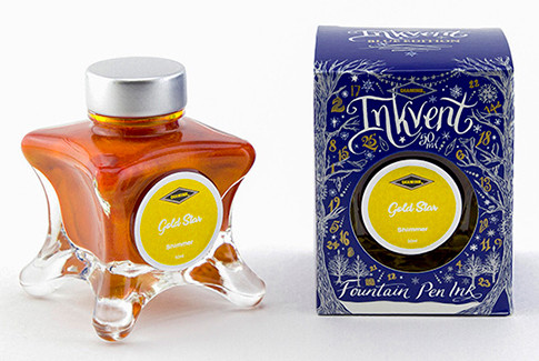 Diamine Inkvent Christmas Ink Bottle 50ml - Gold Star