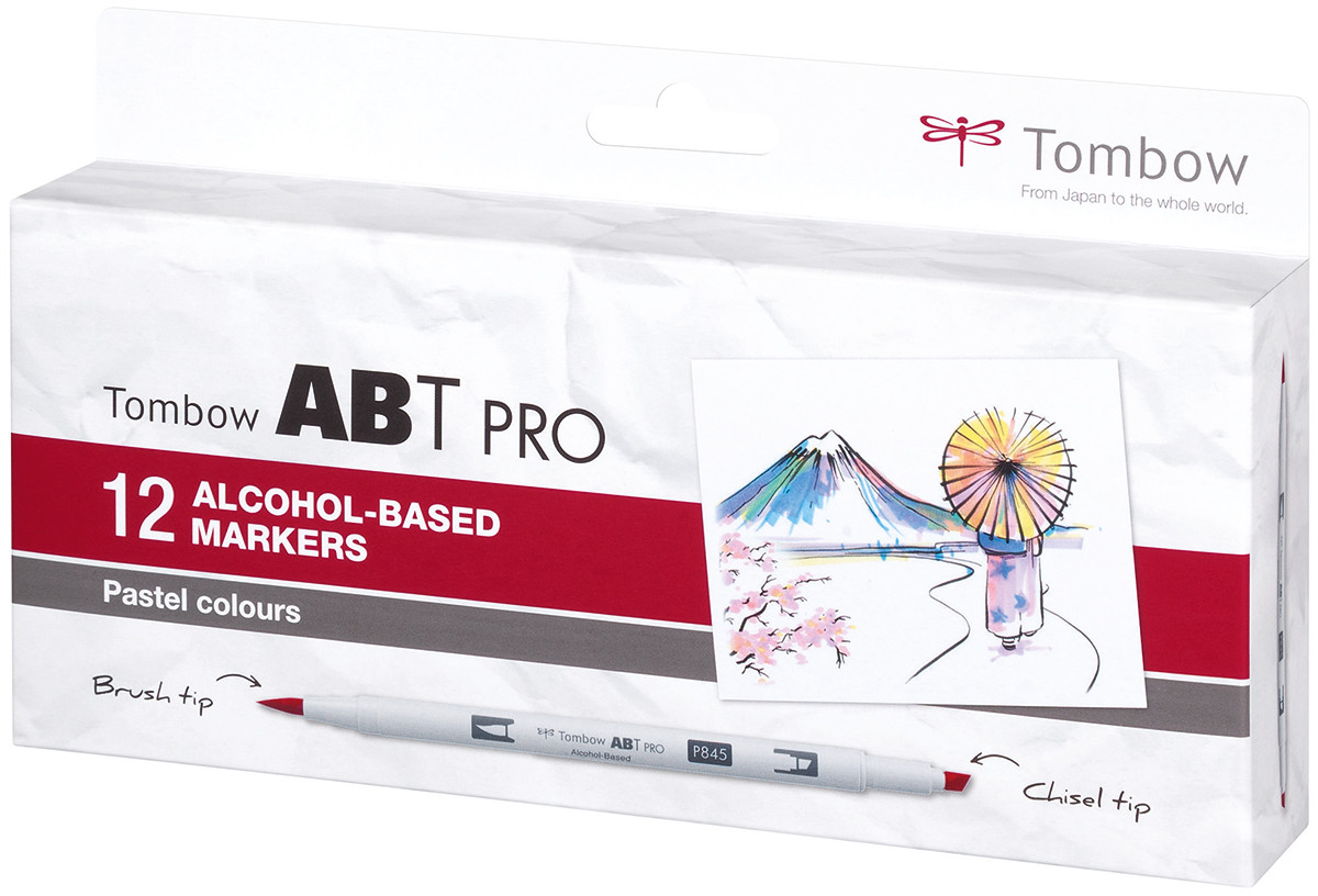 Tombow ABT PRO Markers - Pastel Colours (Pack of 12)