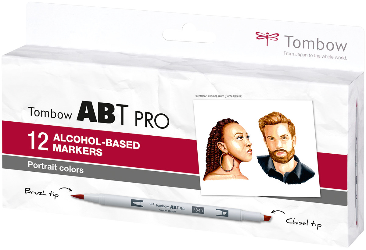 Tombow ABT PRO Markers - Portrait Colours (Pack of 12)