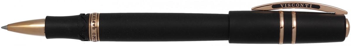 Visconti Homo Sapiens Oversize Rollerball Pen - Black Lava & Bronze