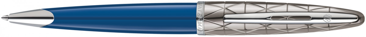 Waterman Carene Ballpoint Pen - Blue Obsession Chrome Trim