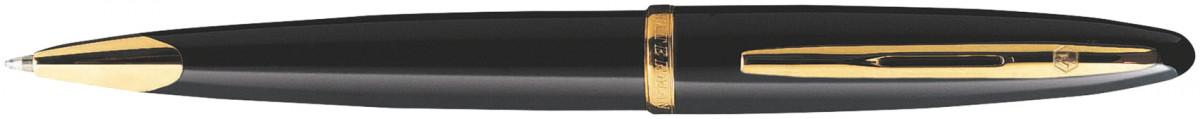 Waterman Carene Ballpoint Pen - Black Sea Gold Trim