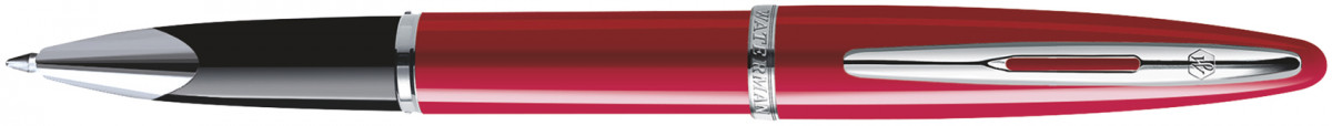 Waterman Carene Rollerball Pen - Glossy Red Chrome Trim
