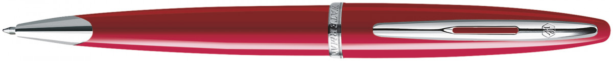 Waterman Carene Ballpoint Pen - Glossy Red Chrome Trim