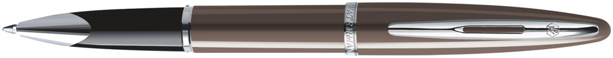 Waterman Carene Rollerball Pen - Frosty Brown Chrome Trim