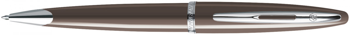 Waterman Carene Ballpoint Pen - Frosty Brown Chrome Trim