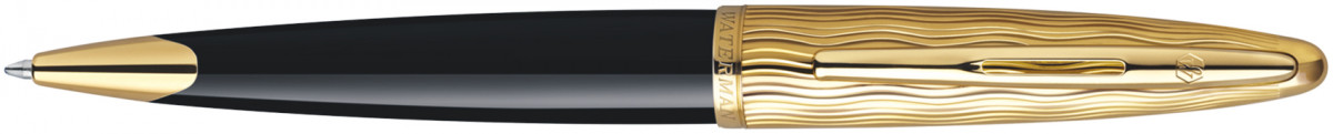 Waterman Carene Ballpoint Pen - Essential Black Gold Trim