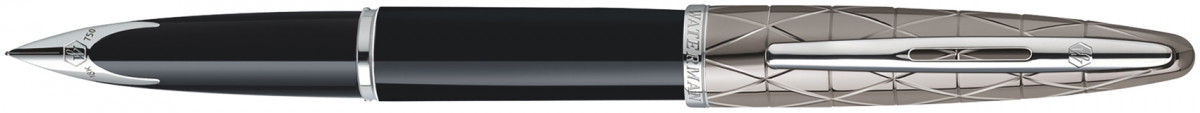 Waterman Carene Fountain Pen - Contemporary Black and Gunmetal Chrome Trim