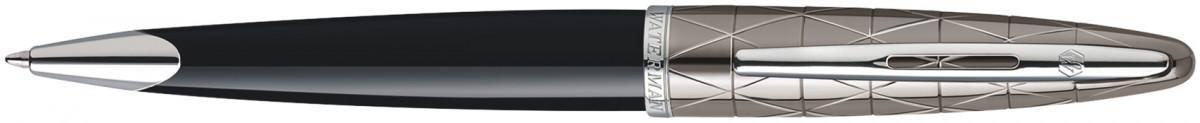 Waterman Carene Ballpoint Pen - Contemporary Black and Gunmetal Chrome Trim