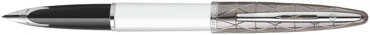 Waterman Carene Fountain Pen - Contemporary White and Gunmetal Chrome Trim