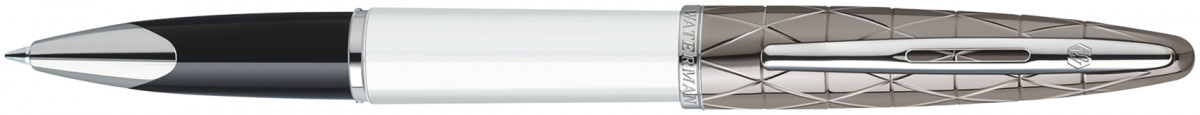 Waterman Carene Rollerball Pen - Contemporary White and Gunmetal Chrome Trim