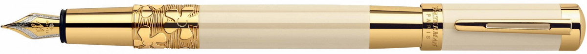 Waterman Elegance Fountain Pen - Ivory Gold Trim