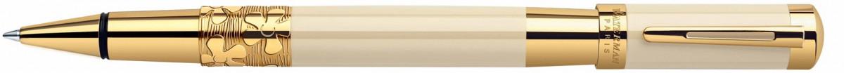 Waterman Elegance Rollerball Pen - Ivory Gold Trim