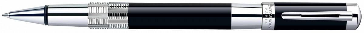 Waterman Elegance Rollerball Pen - Black Silver Trim