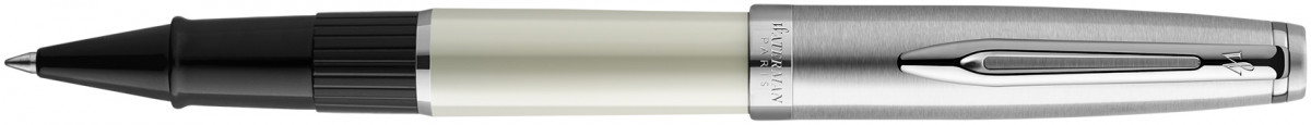 Waterman Embleme Rollerball Pen - Deluxe Ivory Chrome Trim