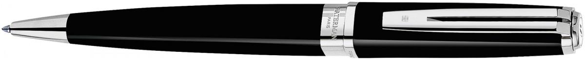 Waterman Exception Ballpoint Pen Slim - Black Lacquer Silver Trim