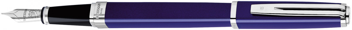 Waterman Exception Fountain Pen Slim - Blue Lacquer Silver Trim