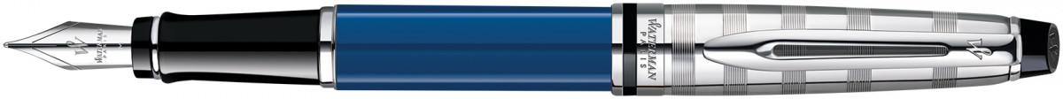 Waterman Expert Fountain Pen - Blue Obsession Chrome Trim