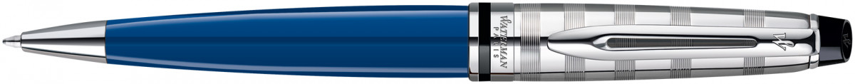 Waterman Expert Ballpoint Pen - Blue Obsession Chrome Trim