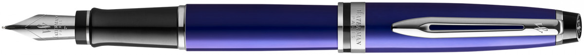 Waterman Expert Fountain Pen - Essential Dark Blue Chrome Trim