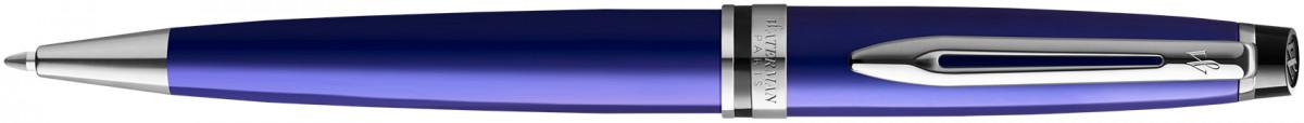 Waterman Expert Ballpoint Pen - Essential Dark Blue Chrome Trim