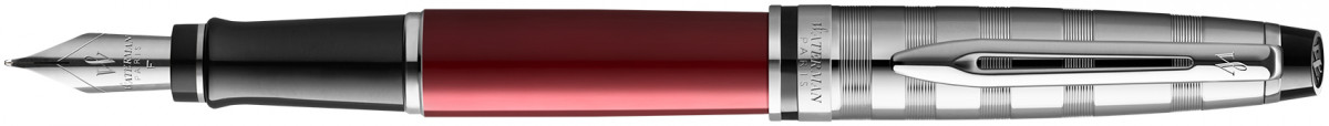 Waterman Expert Fountain Pen - Deluxe Red Chrome Trim