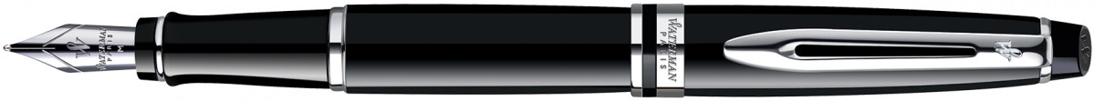 Waterman Expert Fountain Pen - Black Chrome Trim