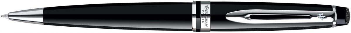 Waterman Expert Ballpoint Pen - Black Chrome Trim