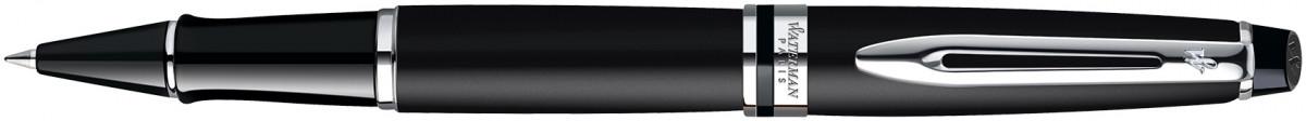 Waterman Expert Rollerball Pen - Matte Black Chrome Trim