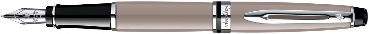 Waterman Expert Fountain Pen - Taupe Chrome Trim