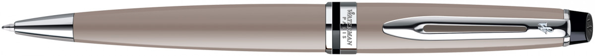 Waterman Expert Ballpoint Pen - Taupe Chrome Trim