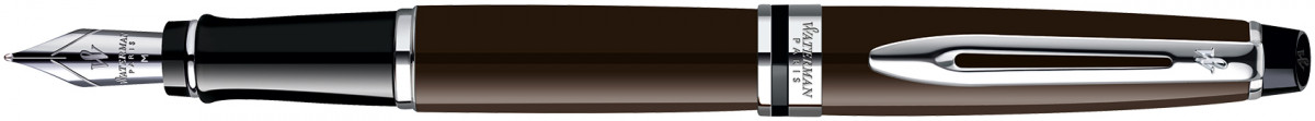 Waterman Expert Fountain Pen - Deep Brown Chrome Trim