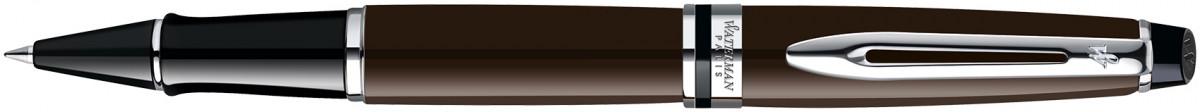 Waterman Expert Rollerball Pen - Deep Brown Chrome Trim