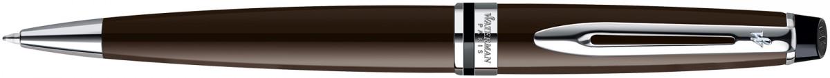 Waterman Expert Ballpoint Pen - Deep Brown Chrome Trim