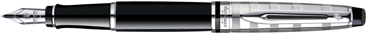 Waterman Expert Fountain Pen - Deluxe Black Chrome Trim