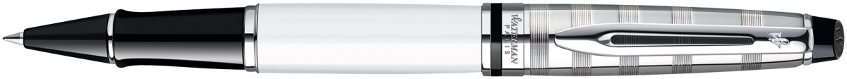 Waterman Expert Rollerball Pen - Deluxe White Chrome Trim