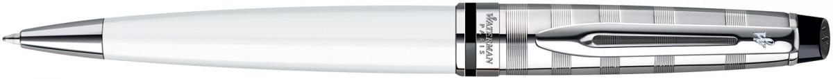 Waterman Expert Ballpoint Pen - Deluxe White Chrome Trim