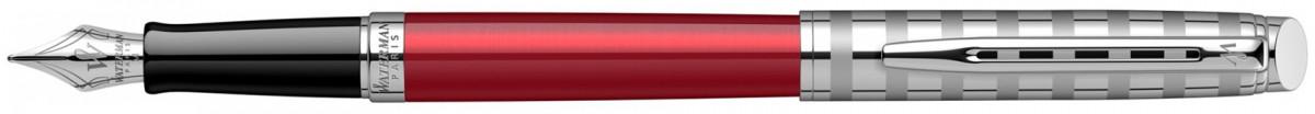 Waterman Hemisphere Fountain Pen - Red Club Chrome Trim