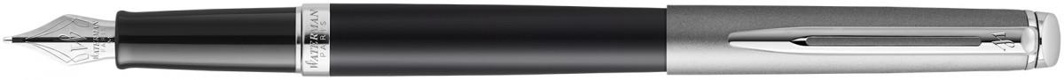 Waterman Hemisphere Essentials Fountain Pen - Matte Black & Sandblasted Steel