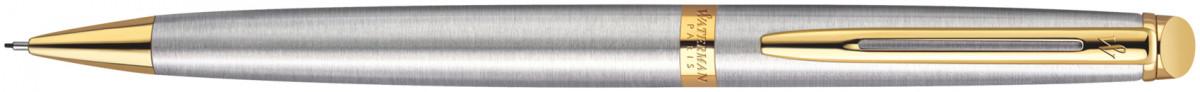 Waterman Hemisphere Pencil - Stainless Steel Gold Trim