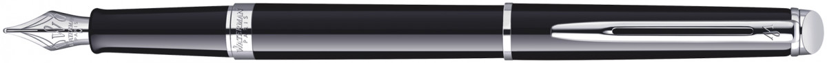 Waterman Hemisphere Fountain Pen - Gloss Black Chrome Trim