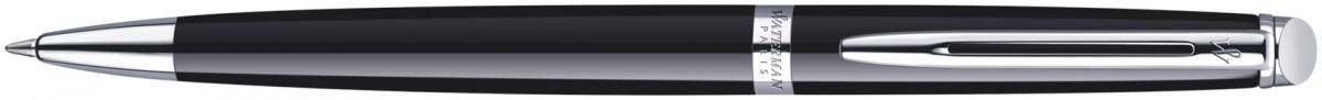 Waterman Hemisphere Ballpoint Pen - Gloss Black Chrome Trim
