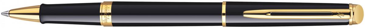 Waterman Hemisphere Rollerball Pen - Gloss Black Gold Trim
