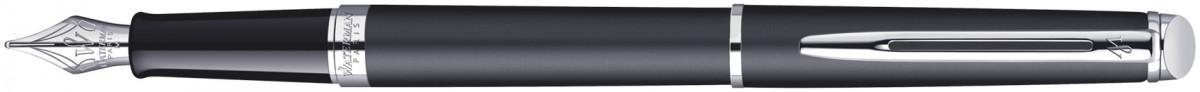 Waterman Hemisphere Fountain Pen - Matte Black Chrome Trim