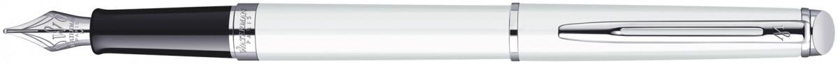 Waterman Hemisphere Fountain Pen - White Chrome Trim