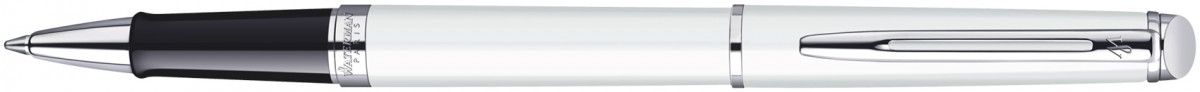 Waterman Hemisphere Rollerball Pen - White Chrome Trim