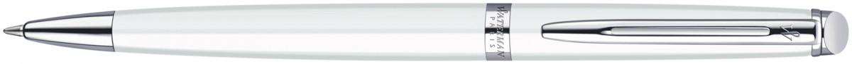 Waterman Hemisphere Ballpoint Pen - White Chrome Trim