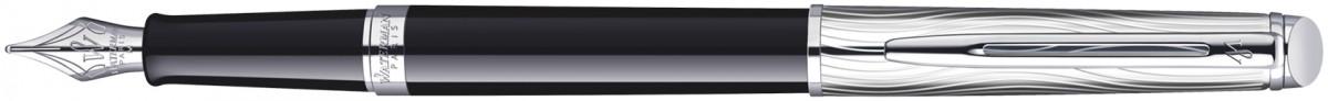 Waterman Hemisphere Fountain Pen - Deluxe Black Chrome Trim