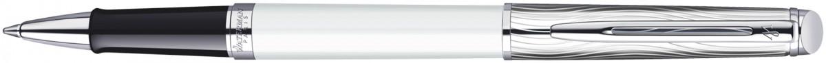 Waterman Hemisphere Rollerball Pen - Deluxe White Chrome Trim